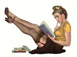 book-whore pin up