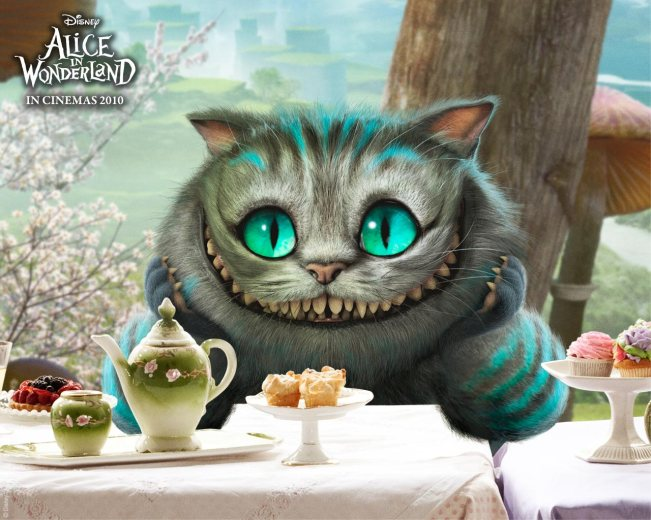 The Cheshire Cat. Isn't he creepily adorable?