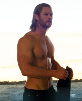 I didn't plan to include this but I couldn't help myself. He's so fine! Chris Hemsworth as Thor.