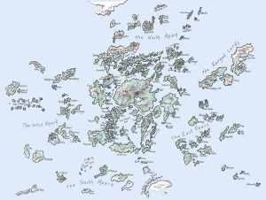 A map of Earthsea.