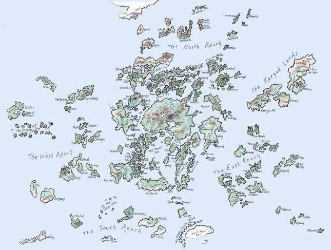 A map of Earthsea.