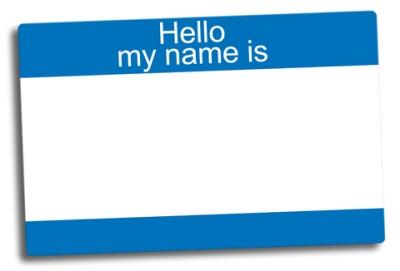 name plate