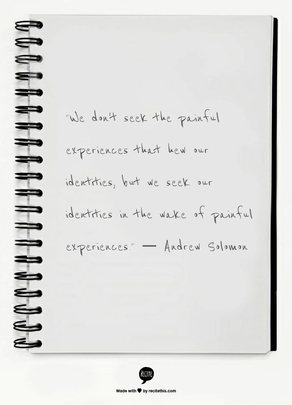 Andrew Solomon TED quote