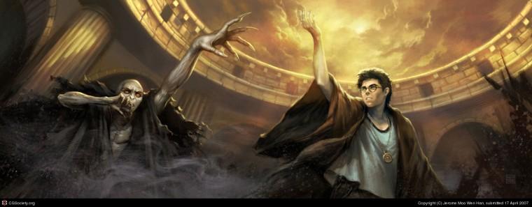 Harry Potter fan art by Jerome Moo.