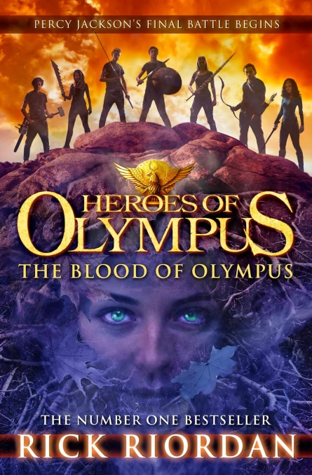 This is the UK cover, which I like best. The heroes look like they mean business and Gaea is just lurking underground, waiting for their blood to spill. I also like that she takes up most of the cover.