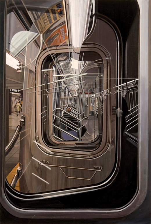"""L Train"" (2009) by Richard Estes"