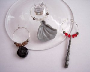 Deathly Hallows Wine Charms
