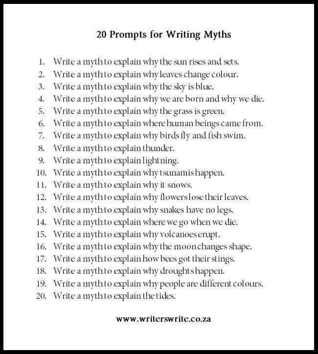 how to write a myth ks2
