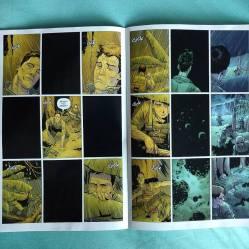 Pretty cool art, very detailed. I love this layout. The page spreads are great.