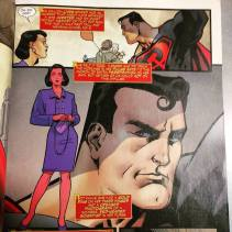 Lois Lane and a close-up of Superman