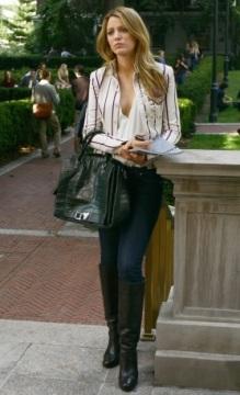Serena van der Woodsen white blazer gossip girl