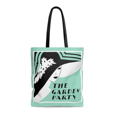 Garden Party tote bag Literary Book Gifts